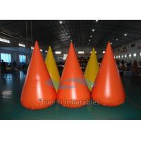 Wholesale 0.6mm PVC Tarapulin Floating Inflatable Buoys , Inflatable Water Barrier For Pool from china suppliers