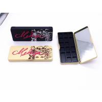 Quality Long Rectangle Printed Eyeshadow Makeup Metal Tin Box With Plastic Insert for sale