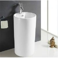 Wholesale Freestanding bathroom suite basin with pedestal from china suppliers