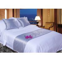 Wholesale White Super King Size Bed Linen , 100% Egyptian Cotton Bed Linen from china suppliers