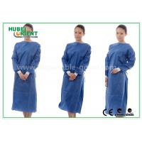 Wholesale Nonwoven SMS Blue disposable hospital scrubs with Elastic and Knit cuff from china suppliers