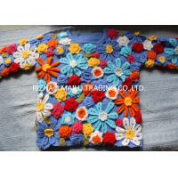 Wholesale Daisy Twill Cable Knit Sweater Wool Handmade Crochet Sweaters For Women from china suppliers