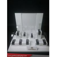 Wholesale Removal Countertop Plexiglass Watch Display Rack White & Clear Acrylic Watch Stand from china suppliers