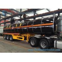 Wholesale Steam Heating 3 Axle Asphalt Tank Trailer 42000 L Bitumen Tanker from china suppliers