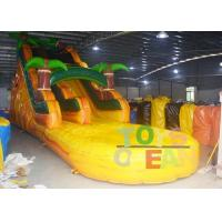 Wholesale Yellow Jungle Inflatable Water Slide With Pool For Kids ,  Bounce House Water Slide from china suppliers
