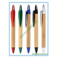 Wholesale plastic bamboo ball pen with logo branding for gift advertising from china suppliers
