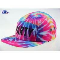 Wholesale Colorful Polyester 5 Panel Camp Cap Snapback Hats With Allover Sublimation Printing from china suppliers