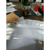Wholesale Transparent Grip Self Seal Plastic Bags , Polyethylene Plastic Bags With Write On Panel from china suppliers