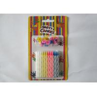 Wholesale Multi - Colored Decorative Spiral Taper Striped Birthday Candles With 24 Pcs/Set from china suppliers
