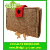 Wholesale beautiful felt card holder with many colors /customized felt card holder from china suppliers