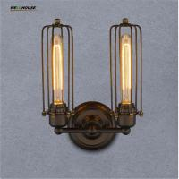 Wholesale Loft Vintage 1 light 2-lights Style Simplicity Industrial ORB Mini Cage Wall Sconces Wall Fixtures Home Decoration Light from china suppliers