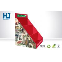 Wholesale Corrugated Red Glossy Cardboard POP Display Lightweight Foldable from china suppliers