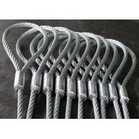 Wholesale Heavy Duty Machine Swaged Soft Loop Wire Rope Slings with Galvanized Surface from china suppliers