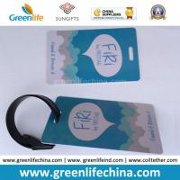 Wholesale Hard PVC Logo Printed Promotional Luggage Tag W/Tape Loop from china suppliers