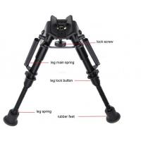 Adjustable Bipod Internal Springs Rifle Bipod With Harris Style Mount Quick Release Adapter