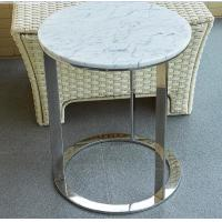 Wholesale stone top polished  stainless steel metal side table/End table/coffee table/C table, hotel furniture,casegoodsTA-0086 from china suppliers