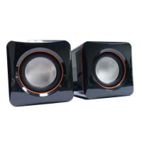 Wholesale Cube 6W Multimedia Stereo Desktop PC Speakers 2.0CH Black Pocket Size from china suppliers