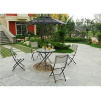 Wholesale Metal Frame Folding Garden Table And Chairs Set For Leisure Chating from china suppliers
