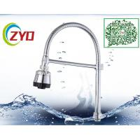Wholesale Universal Swivel Gooseneck Chrome Flexible Faucet Spout Silver Shower Head Plastic Braket from china suppliers