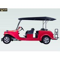 Buy cheap CE Approved Electric Classic Golf Cart 6 Seater Red Color With DC Motor from wholesalers