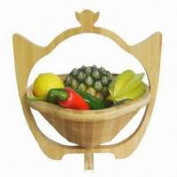 Wholesale Bamboo Fruit Basket for Storage and Home Decoration, OEM Orders Accepted from china suppliers