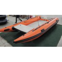 Wholesale Light Weight Catamaran Pontoon Boat , 430 Cm Inflatable Catamaran Deck Boat from china suppliers
