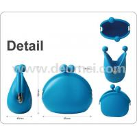 Wholesale OEM Factory Direct Sale FDA Approved Lovely Mini Silicone Coin Purse Custom Design Package from china suppliers