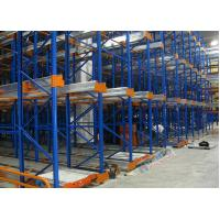 Quality Freezers Radio Shuttle Racking 2 Aisles Heavy Load Industrial Pallet Racks Customized for sale