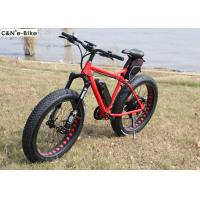 Wholesale Full Suspension Electric Fat Tire Mountain / Snow Bike 48 Voltage 1000 Watt from china suppliers