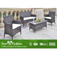 Wholesale Professional Rattan Sofa Patio Outdoor Furniture Small Table And Chairs Easy Cleaning from china suppliers
