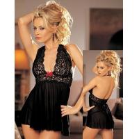 China Sexy babydoll women gown lingerie on sale