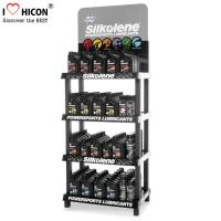 Wholesale 4-Layer Engine Oil Metal Display Racks Automotive Products Motor Oil Display Shelf from china suppliers