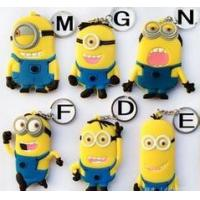 high quality cheap price custom logo soft pvc rubber  personalized minion dave keychain with cool &cute design