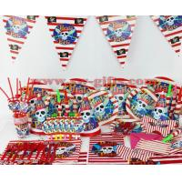 Wholesale Kids Birthday Party Decoration Set Pirate Theme Party Supplies Baby Birthday Party Pack from china suppliers