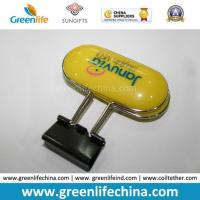 Wholesale Office Promotional Plastic Oval Logo Handle for Metal Binder Clip from china suppliers