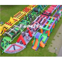 Wholesale En14960 Outdoor Popular Adults Inflatable 5k Obstacle Course For Running Race from china suppliers