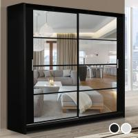Wholesale Stylish Bedroom Furniture Sliding Doors glass Wardrobe from china suppliers