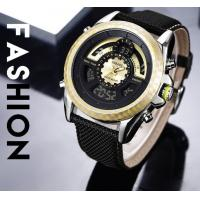 Buy cheap Wholesale Fashion Men Genuine Leather Band Dual Time Chronograph Multifunction Casual Wrist Watches 1369 from wholesalers