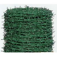 Wholesale Single Strand Green PVC Coated Barbed Wire Fencing For Poultry Farms from china suppliers