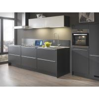 Wholesale 1-Shape Grey Stainless Steel Kitchen Cabinet With Double Sink / Pull - out Handles from china suppliers