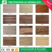 Quality Embossed plastic type vinyl plank flooring with SGS from Hanshan for sale