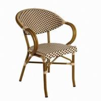 Wholesale Restaurant Armchair with PE Rattan and Aluminum Bamboo Looks from china suppliers