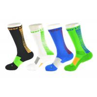 Wholesale Spandex / Elastane Green Athletic Basketball Socks With Anti - Bacterial / Anti - Slip Materials from china suppliers
