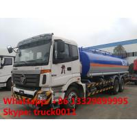 Foton Auman 6*4 fuel tanker 20-25 m3 heavy fuel oil truck with 6 compartments for sale
