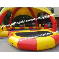 Wholesale 0.9mm PVC Tarpaulin Inflatable Water Pools with protective Pillar and Net from china suppliers