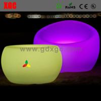 Wholesale Round LED bar chair outdoor furniture GF101 light furniture plastic Led furniture from china suppliers