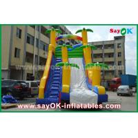 Wholesale Funny / Safety PVC Tarpaulin Inflatable Bouncer Slide Yellow / Blue Color For Playing from china suppliers