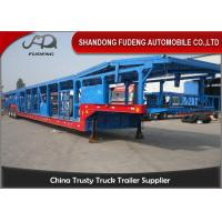 Wholesale Open Type Tri - Axle Car Carrier Trailer Steel Material Mechanical Suspension from china suppliers