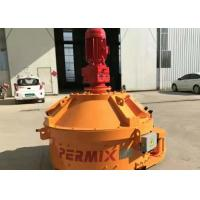 China Heavy Duty Concrete Batching Mixer Electric Control System Steel Material Orange Color on sale
