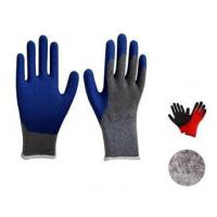 Wholesale Latex thrum coated gloves,10G BRUSHED liner,mechanical use,crinkle finsh,anti-acid/alkali from china suppliers